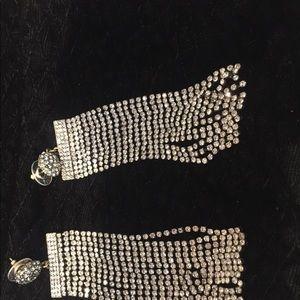 BaubleBar Statement Sparkle Earrings NWOT